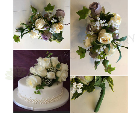 Artificial Flower Arrangement for Cake - Lisa G