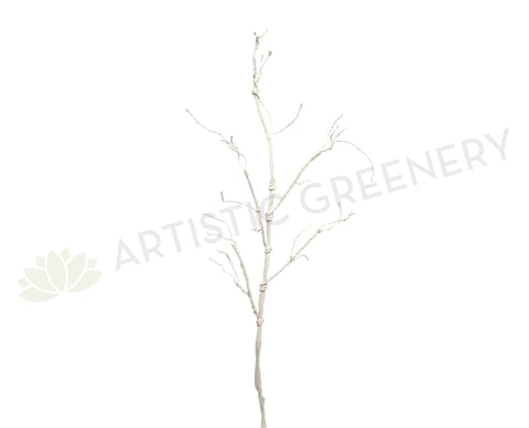 DS0033 Tree Branch 110cm (Fully Twistable) White / Green