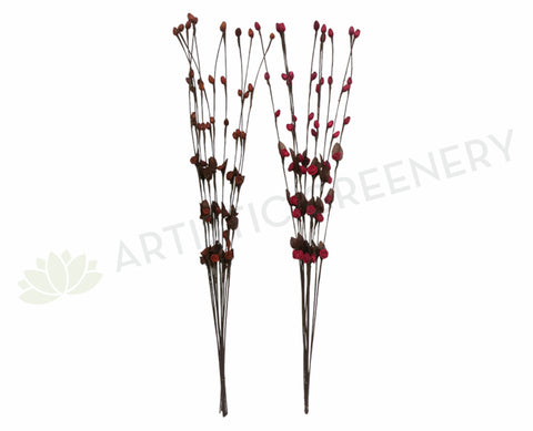 DS0041 Decorative Sticks with Hanging Flowers 103cm 2 Colours