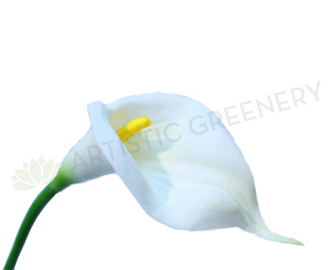 F0008(LGE)WHI Calla Lily Real Touch (Fully Open) 67cm White