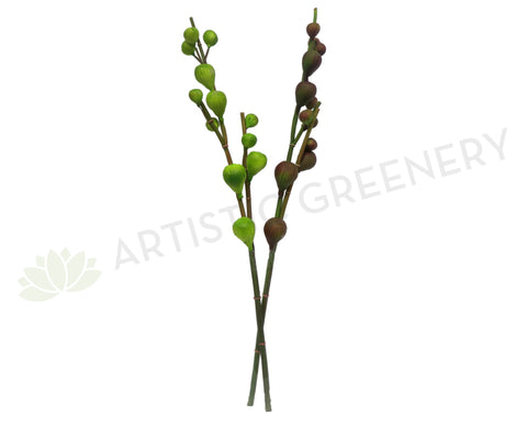 F0129 Fig Sprig 78cm Green / Purple