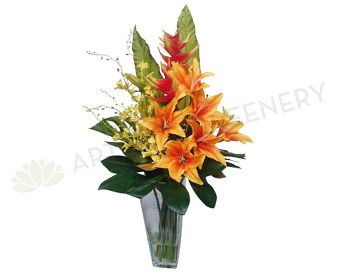 FA1002 - Orange Lilies Floral Arrangement