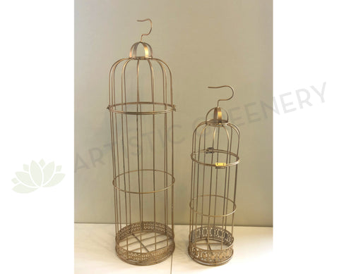 ACC0029 Decorative Gold Colour Bird Cage - 2 Sizes
