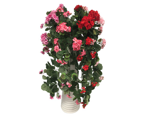 HP0042 Hanging Geranium Bush 77cm 5 Colours