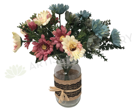 SP0196 Chrysanthemum Bunch (European Style) 27cm 3 Colours