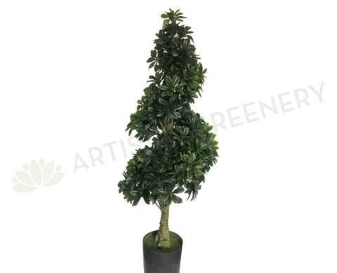 T0076 Spiral Topiary Tree Real Touch Leaves 122cm