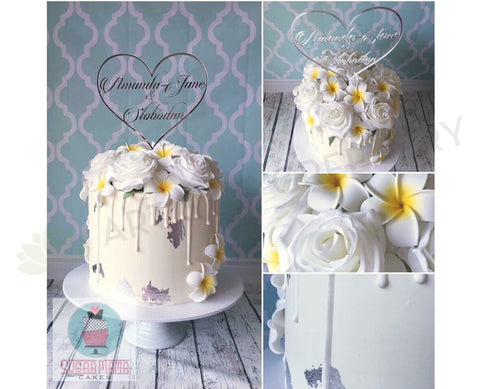 Cake Decoration (Silk Roses & Frangipani)