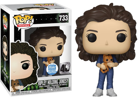 Funko Pop! Aliens: Ripley Holding Jonesy #733 Funko Shop Exclusive