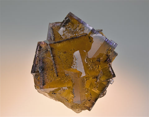 SOLD Fluorite, Rosiclare Level Cross-Cut Orebody Minerva #1 Mine, Ozark-Mahoning Company, Cave-in-Rock District, Southern Illinois, Mined Feb. 1991, Severance Collection #2003.46, Small Cabinet 6.5 x 7.0 x 8.0 cm, $2500.  Online 8/23.