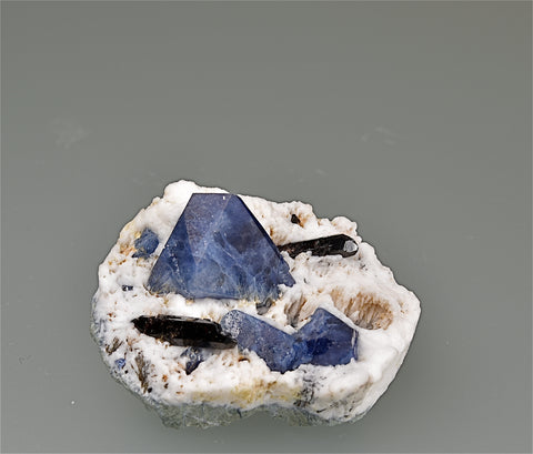 Benitoite and Neptunite, San Benito County, California Miniature 2 x 3 x 3.7 cm $450. Online 4/25