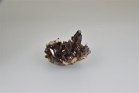 Axinite, Dal'negorsk, Primorskiy Kray, Russia, Mined c. late 1990's, G & J Megerle Collection, Miniature 3.0 x 4.5 x 6.0 cm, $400. Online 1/10.