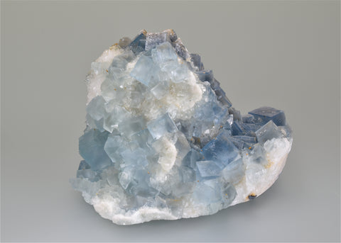 Fluorite, Hansonburg District, Bingham, New Mexico, Ralph Campbell Collection, Medium Cabinet 7.0 x 8.0 x 9.0 cm, $125.  Online 10/5.