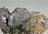 Bournonite and Pyrite with Quartz, Viboras Mine, Potosi, Bolivia Cabinet 7 x 8 x 17 cm $4800. Online 3/13 SOLD
