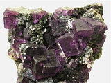Fluorite and Sphalerite on Quartz, Hill-Ledford Mine, Ozark-Mahoning Company, Cave-in-Rock District, Southern Illinois attr: Sub-Rosiclare Level Small cabinet 3.5 x 5.5 x 9.5 cm $250. Online 4/21 SOLD