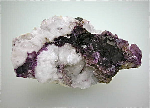 Fluorite and Barite (repair 1x), Cave-in-Rock District, Southern Illinois attr; Rosiclare Level, Minerva #1 Mine Medium cabinet 4 x 7 x 13 cm $125. Online 5/16. SOLD.