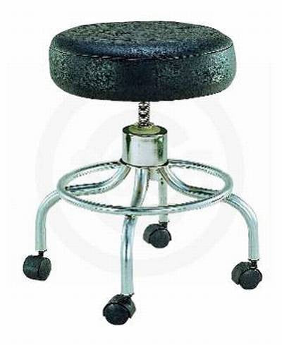 Drive Professional stool with wheels, adjustable height, hooded casters, 4 inch padding.