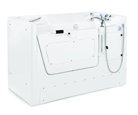 The invacare IH3802G is a side opening whirlpool mostly used in facilities. compare with directsupply