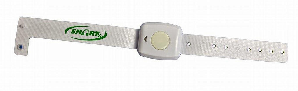 the SmartCareGiver resident wrist band is a fitting product to go with the SmartCareGiver door monitor