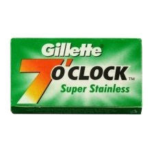 Gillette 7 o'clock Super Stainless Double Edge Razor Blades - 5 Pack