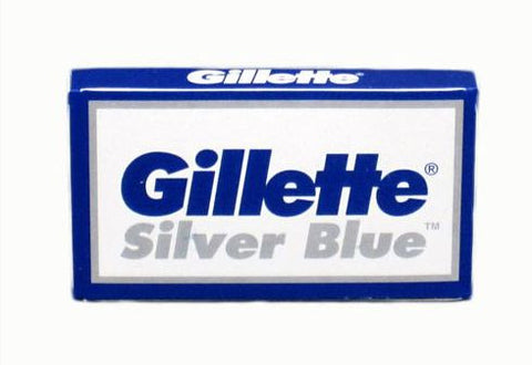 "Gillette ""Silver Blue"" Stainless Double Edge Razor Blades - 5 Pack"