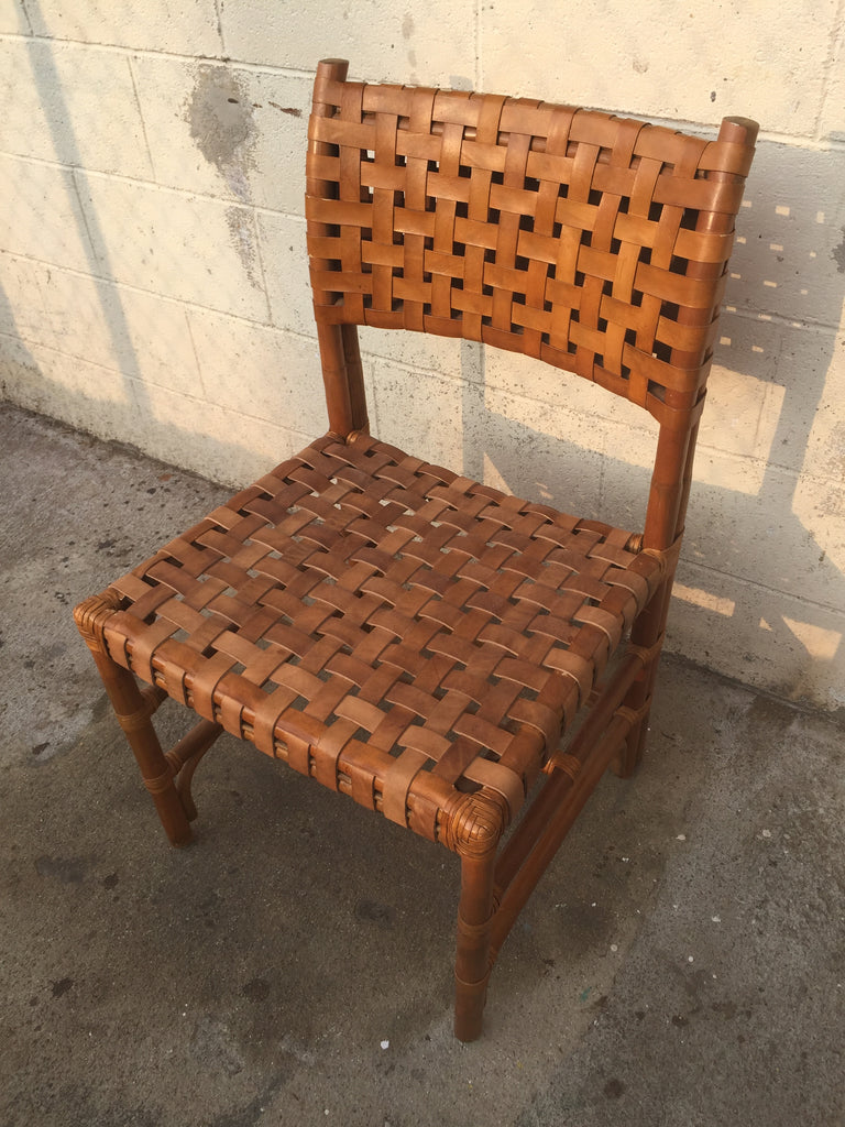 Wow! Leather woven seat chair restoration!