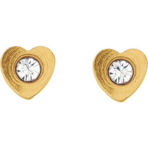 Heart Accented Inverness Piercing Earrings