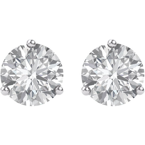 14k White Gold 5mm Round Forever Brilliant® Moissanite Earrings