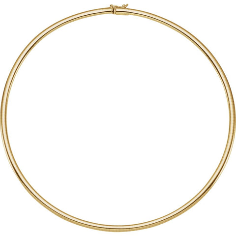 "14k Yellow Gold 4mm Omega 18"" Chain"