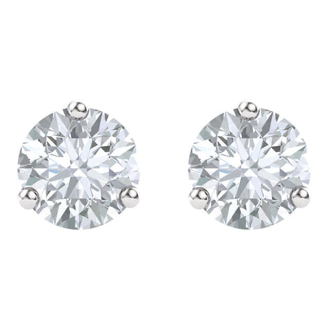14k White Gold 4mm Round Forever Classic™ Moissanite Earrings