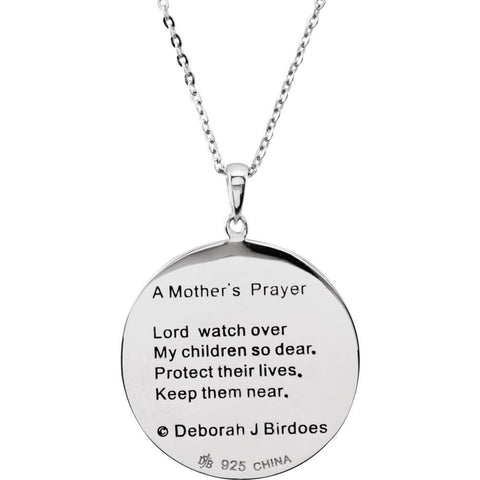 "Sterling Silver Mother's Prayer 18"" Necklace"