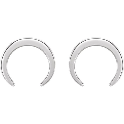 Sterling Silver Crescent Earrings