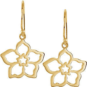 Forget Me Not Earring Mounting in 14K Yellow Gold