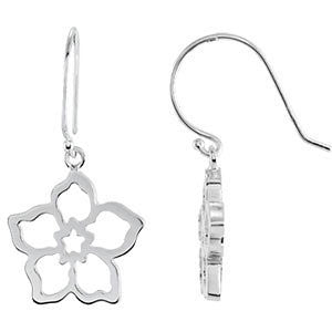 14k White Gold Forget Me Not Earring Mounting
