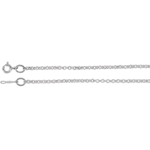 Rolo Chain Bracelet with Spring Ring in Sterling Silver ( 7 Inch )