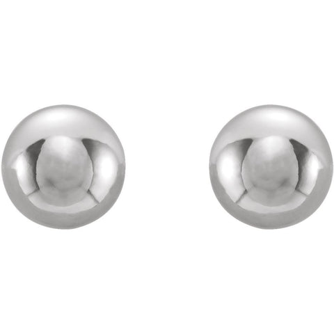 Stainless Steel 4mm Inverness Piercing Ball Earrings