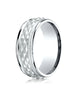 Benchmark-14K-White-Gold-8mm-Comfort-Fit-Round-Edge-Cross-Hatch-Patterned-Wedding-Band-Ring--Size-6--CF15804014KW06