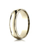 Benchmark-14K-Yellow-Gold-6mm-Comfort-Fit-High-Polished-Carved-Design-Wedding-Band-Ring--Size-6--CF1560814KY06