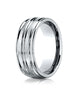 Benchmark-10K-White-Gold-8mm-Comfort-Fit-Satin-Finished-and-Round-Edge-Carved-Design-Wedding-Band--Sz-4--RECF5818010KW04