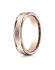 Benchmark-14K-Rose-Gold-4mm-Comfort-Fit-Satin-Finished-High-Polished-Round-Edge-Carved-Design-Band-Sz-4--RECF7402S14KR04