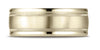 Benchmark-14K-Yellow-Gold-8mm-Comfort-Fit-Satin-Finish-Center-w/-Milgrain-Round-Edge-Band--Size-4.25--RECF7801S14KY04.25