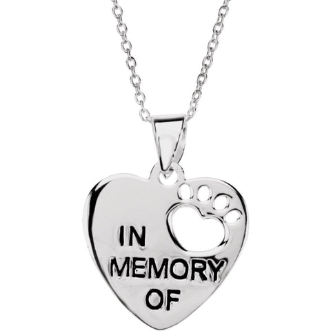 Heart U Back in Memory Pendant With Chain in Sterling Silver