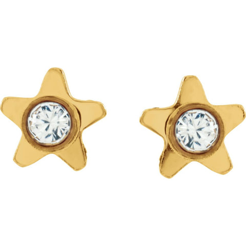 Star Accented Inverness Piercing Earrings