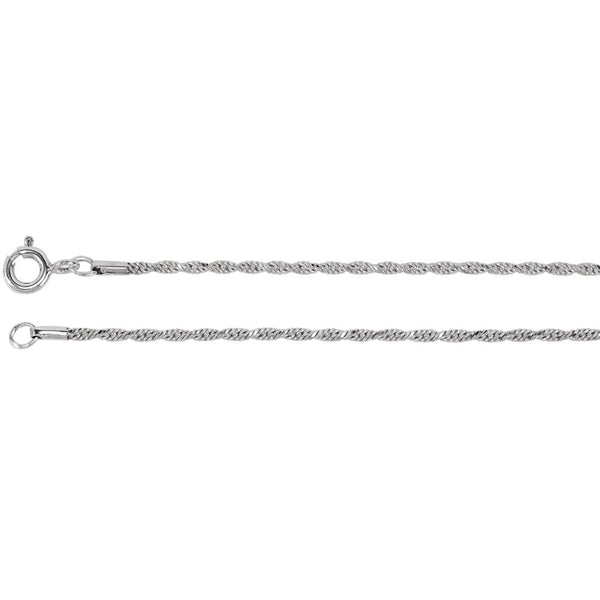 Sterling Silver 1.5mm Diamond Cut Rope Chain