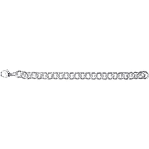 10 mm Cable Bracelet in Sterling Silver ( 8.5-Inch )