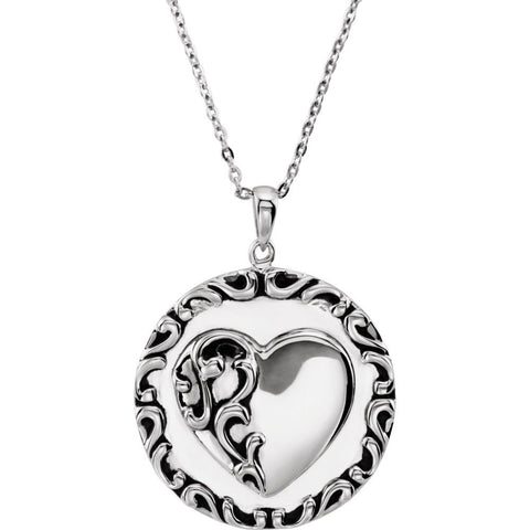 Mother's Prayer Necklace in Sterling Silver