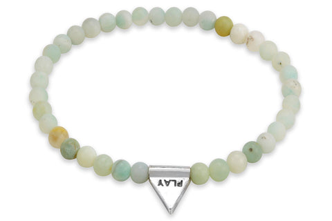 InCompass Play bracelet - amazonite and sterling silver - Amanda K Lockrow