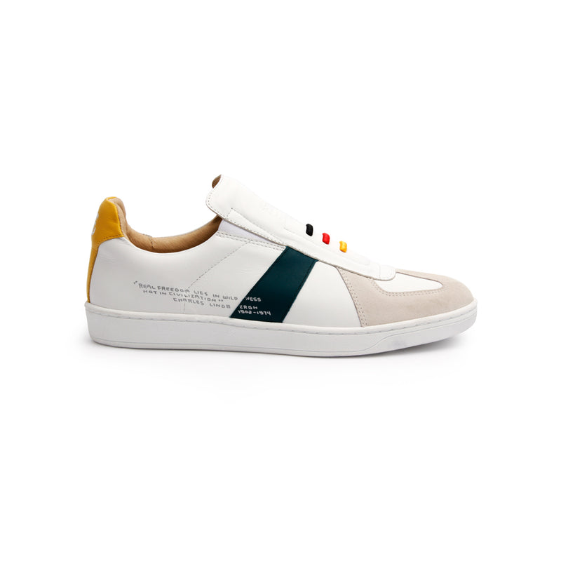 Women's Smooth Multicolored Leather Low Tops 91591-043 - ROYAL ELASTICS