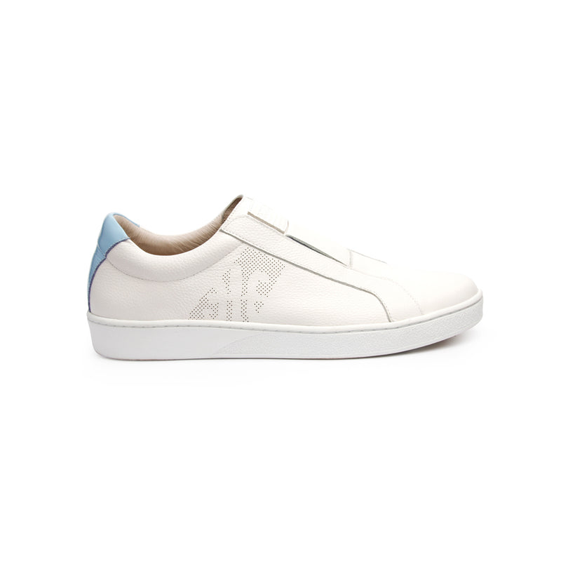 Women's Bishop Classic White Blue Leather Sneakers 91791-005 - ROYAL ELASTICS