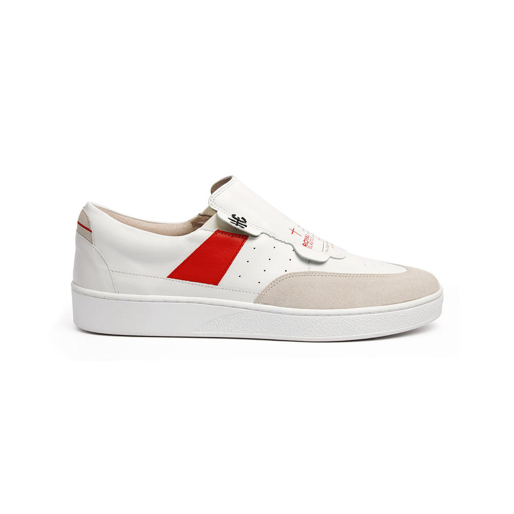 Women's Pastor White Red Leather Sneakers 91891-001 - ROYAL ELASTICS