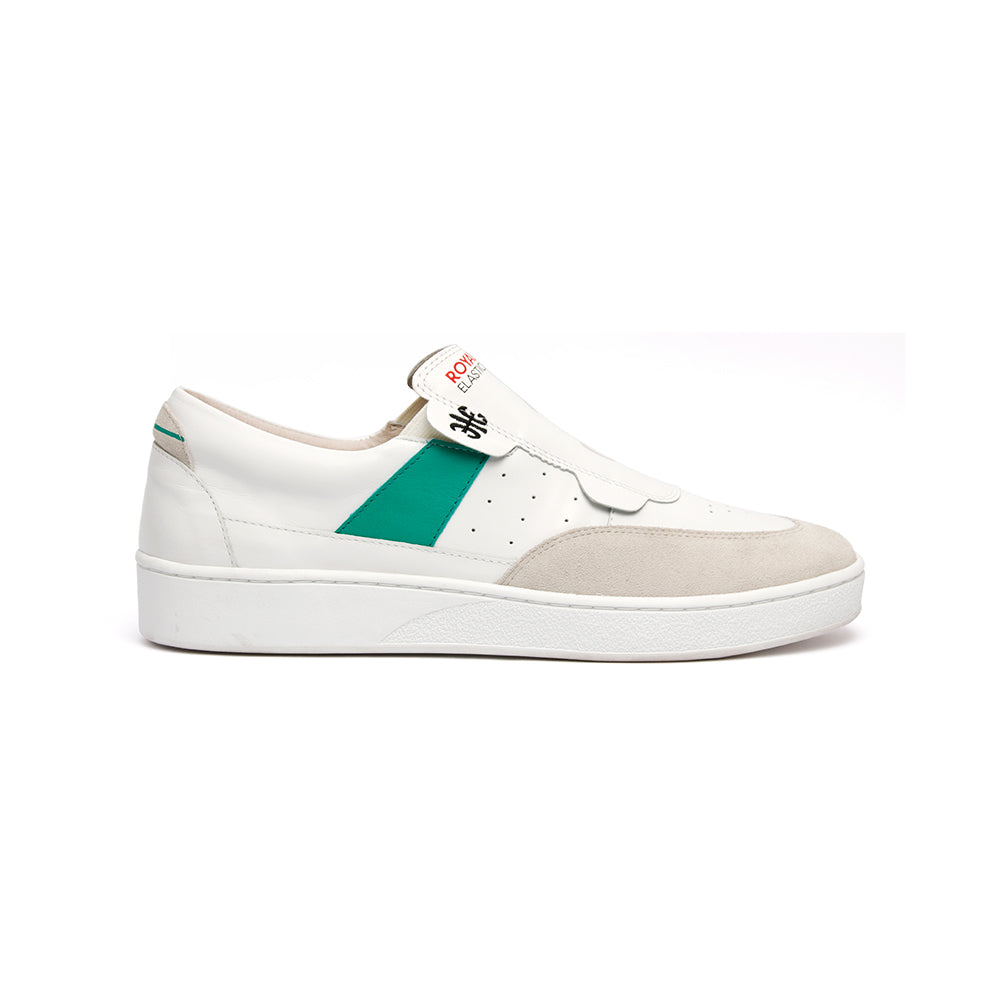 Women's Pastor White Green Leather Sneakers 91891-004 - ROYAL ELASTICS